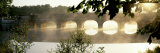 Panoramic Images - Stone Bridge in Fog, Loire Valley, France Fotografická reprodukce