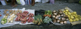 High Angle View of Vegetables in a Market, St. Lucia, Windward Islands, West Indies Photographic Print by  Panoramic Images