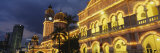 Low Angle View of a Building Lit Up at Night, Sultan Abdul Samad Building, Kuala Lumpur, Malaysia Photographic Print by  Panoramic Images