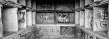 Black and White, Graffiti on Mausoleum Photographic Print by Panoramic Images