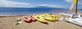 Canoes, Kanapali, Maui, USA Photographic Print by  Panoramic Images
