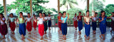 Teenage Girls at Dance Class, Phnom Penh, Cambodia Photographic Print by Panoramic Images