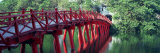 Bridge, Hoan Kiem Lake, Hanoi, Vietnam Photographic Print by  Panoramic Images