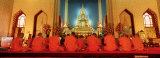 Monks, Benchamapophit Wat, Bangkok, Thailand Photographic Print by  Panoramic Images