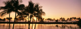Sunset, Anaehoomalu Beach, Hawaii, USA Photographic Print by  Panoramic Images