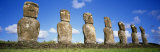 Stone Heads, Easter Islands, Chile Photographic Print by  Panoramic Images