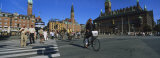 Group of People Crossing a Road at a Zebra Crossing, City Hall Square, Copenhagen, Denmark Photographic Print by  Panoramic Images