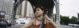 Young Woman Playing a Cello, New York City, NYC, New York State, USA Photographic Print by  Panoramic Images