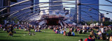 People at a Lawn, Pritzker Pavilion, Millennium Park, Chicago, Illinois, USA Photographic Print by  Panoramic Images
