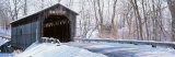 Christmas Wreath on a Bridge, Fallasburg, Michigan, USA Fotografisk trykk av Panoramic Images,