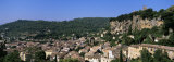 High Angle View of a Village, Cotignac Village, Vacances Provence, France Photographic Print by  Panoramic Images