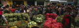Group of People in a Vegetable Market, Almolonga, Guatemala Photographic Print by  Panoramic Images