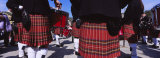 Group of Men Playing Drums in the Street, Scotland, United Kingdom Photographic Print by  Panoramic Images