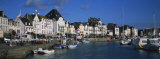 Town Along a River, Loire-Atlantique, Brittany, France Photographic Print by Panoramic Images
