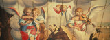 Mural of Angels and a Saint on the Wall of a Church, Assis Church, Mariana, Minas Gerais, Brazil Photographic Print by  Panoramic Images