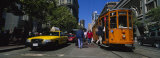 Cars and Cable Car Moving on a Road, San Francisco, California, USA Photographic Print by  Panoramic Images