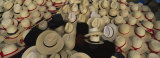 High Angle View of Hats in a Market Stall, San Francisco El Alto, Guatemala Photographic Print by Panoramic Images