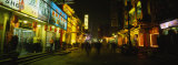 Stores Lit Up at Night, Beijing, China Photographic Print by  Panoramic Images