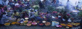 High Angle View of a Group of People in a Vegetable Market, Solola, Guatemala Photographic Print by Panoramic Images