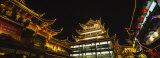 Low Angle View of Buildings Lit Up at Night, Old Town, Shanghai, China Photographic Print by Panoramic Images