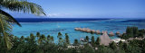 High Angle View of Beach Huts, Kia Ora, Moorea, French Polynesia Fotografisk trykk av Panoramic Images,