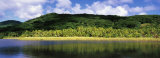 Mountains Along a River, Tahaa, French Polynesia Photographic Print by  Panoramic Images