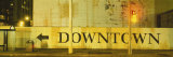 Downtown Sign Printed on a Wall, San Francisco, California, USA Photographic Print by  Panoramic Images