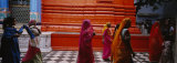Group of People Walking in a Temple, Brahma Temple, Pushkar, Rajasthan, India Photographic Print by  Panoramic Images