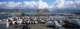 Containers and Cranes at a Harbor, Honolulu Harbor, Hawaii, USA Photographic Print by Panoramic Images 