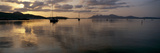 Silhouette of Boats in the Water, Pollenca, Majorca, Spain Photographic Print by  Panoramic Images