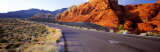 Road Through the Desert, Nevada, USA Photographic Print by  Panoramic Images