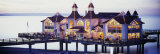 Sea Bridge Lit Up at Dusk, Sellin, Isle of Ruegen, Germany Photographic Print by Panoramic Images