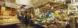 Group of People Shopping in a Shopping Market, Stuttgart, Germany Photographic Print by  Panoramic Images