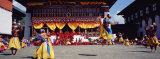 Folk Dancers Dancing at a Festival, Thimphu Tshechu, Thimphu, Bhutan Photographic Print by  Panoramic Images