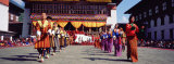 Folk Dancers in a Festival, Thimphu Tshechu, Thimphu Bhutan Photographic Print by  Panoramic Images