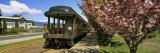 Train at a Railroad Station Platform, Mount Hood Railroad, Parkdale Station, Oregon, USA Photographic Print by  Panoramic Images
