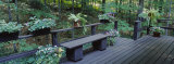 Bench on the Deck Porch of a House Photographic Print by  Panoramic Images