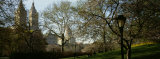 Park in Front of a Building, Central Park, New York City, New York State, USA Photographic Print by  Panoramic Images