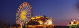 Ferries Wheel Lit Up at Dusk, Erie County Fair and Exposition, Hamburg, NY, USA Photographic Print by  Panoramic Images