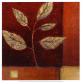 Crimson Leaf Study I Prints by Ursula Salemink-Roos