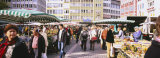 Group of People at a Farmer's Market, Stuttgart, Baden-Wurttemberg, Germany Photographic Print by  Panoramic Images