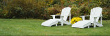 White Adirondack Chairs on a Lawn, Stowe, Vermont, USA Photographic Print by  Panoramic Images