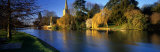 Church on a Riverbank, River Avon, England, United Kingdom Photographic Print by  Panoramic Images