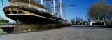 Close-up of a Sailing Ship at the Dock, Cutty Sark, Greenwich, London, England, United Kingdom Photographic Print by  Panoramic Images