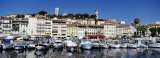 Boats Moored at a Harbor, Cannes, French Riviera, France Photographic Print by  Panoramic Images