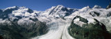 Snow Covered Mountain Range with a Glacier, Matterhorn, Switzerland Photographic Print by Panoramic Images 