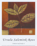 Crimson Leaf Study II Prints by Ursula Salemink-Roos