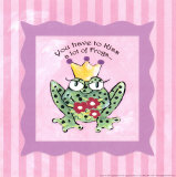 You Have to Kiss a Lot of Frogs Print by Stephanie Marrott