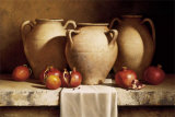Urns with Persimmons and Pomegranates Pósters por Loran Speck