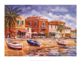Beachside Cafe's Print by Malcolm Surridge